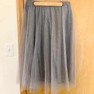 LC Gray Tulle Skirt